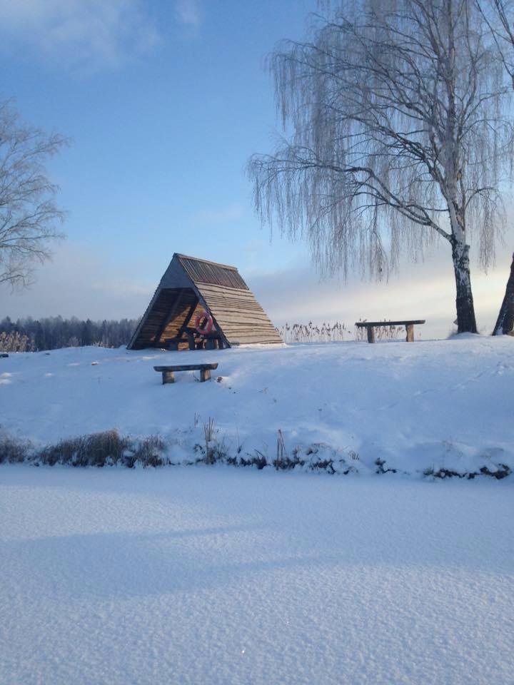 Pavėsinė žiemą